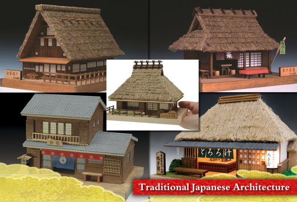Japanese old Houses Model / Woody JOE