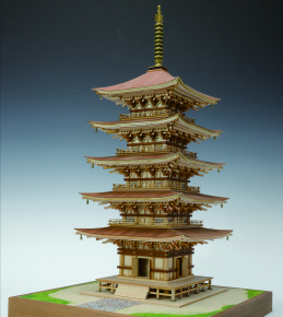 """Hagurosan Five-Story Pagoda"" Japanese pagoda Model"